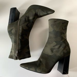 Jeffrey Campbell Siren camouflage ankle booties